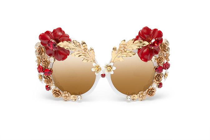 Dolce and gabbana show flower sunglasses