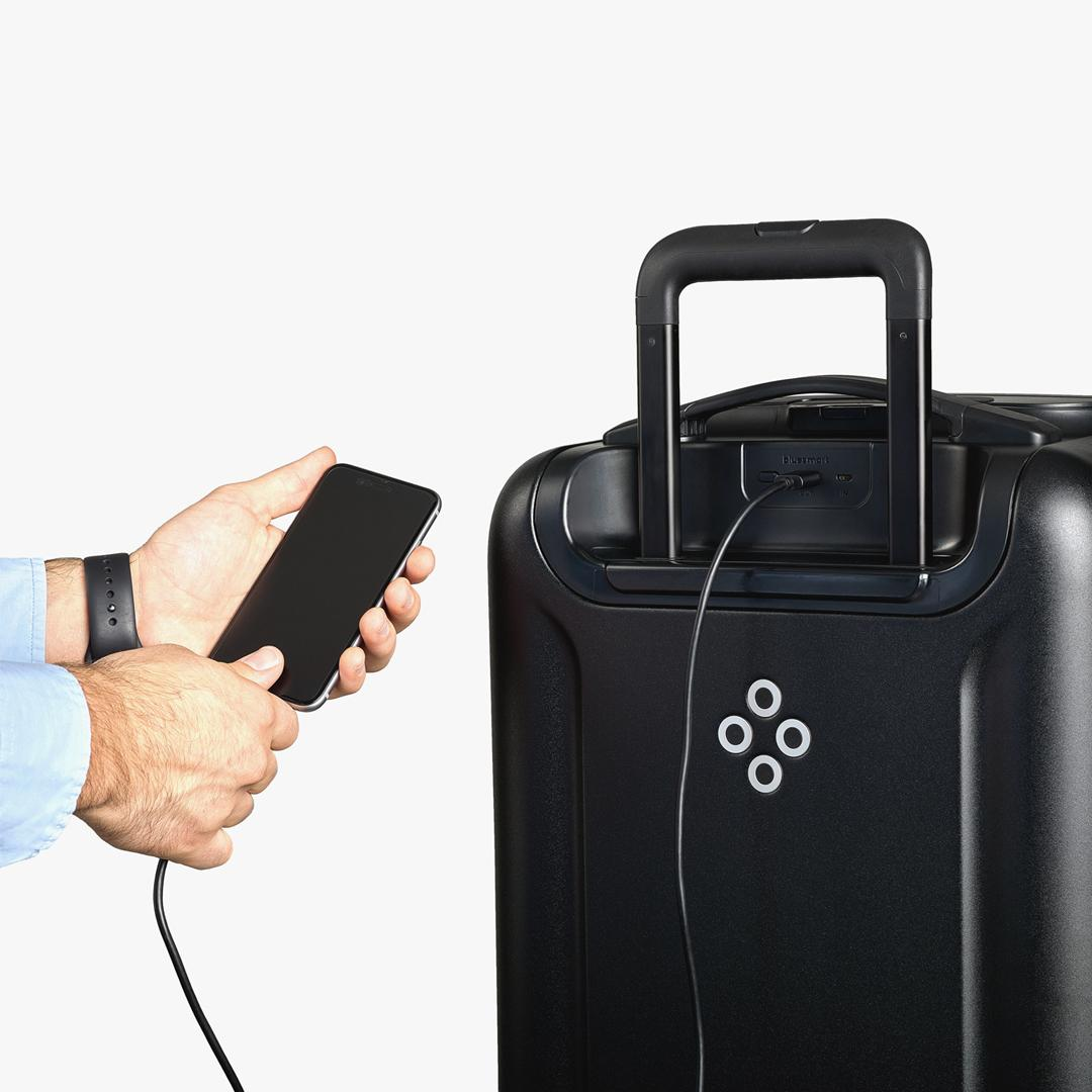 The Bluesmart Black Edition carry-on bag
