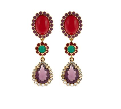 Miu Miu's gold-tone metal earrings