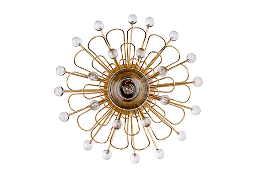 luxury Kate Spade New York metal Keaton Floral wall sconce