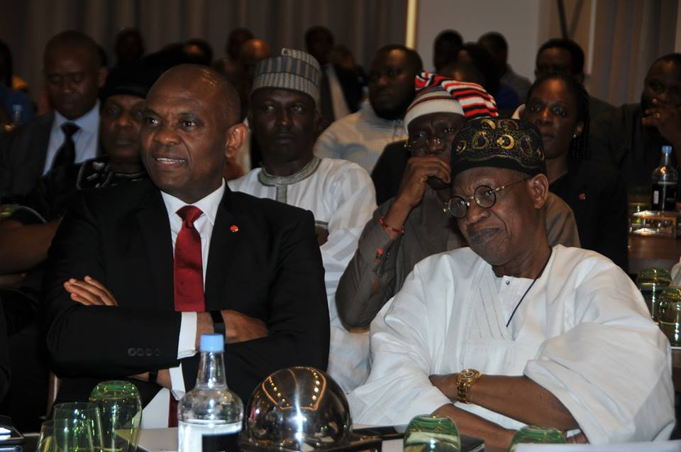 Lai Mohammed with Tony Elumelu