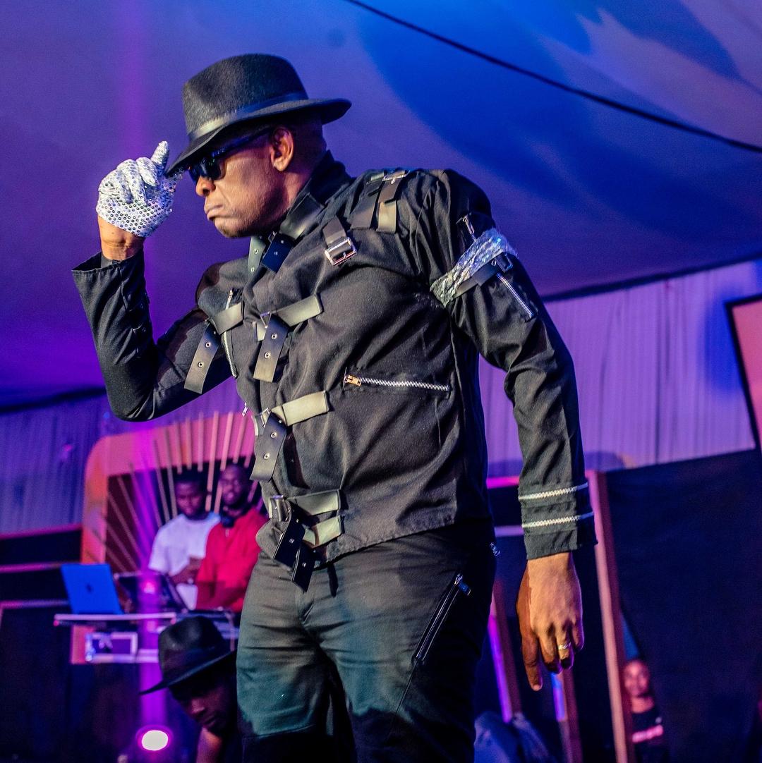 Tony Elumelu in Michael Jackson Costume