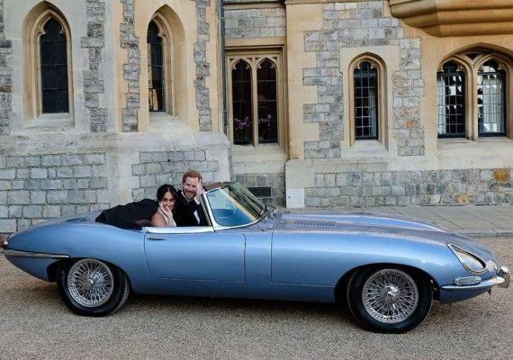 Prince Harry with his new wife Meghan Markle