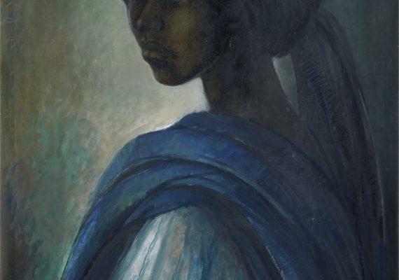 Tutu, 1974, oil-on-canvas by Ben Enwonwu