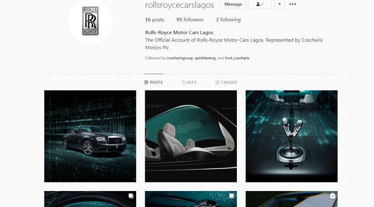 Rolls Royce Lagos Instagram