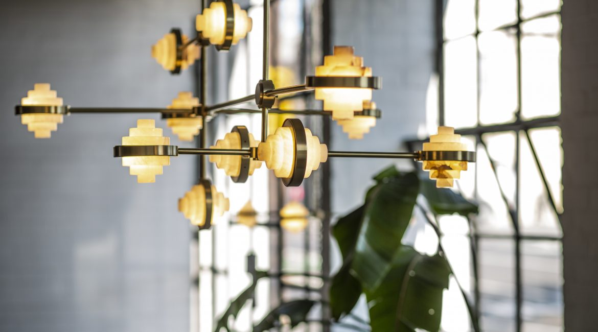 This Alabaster Forged Light Is A Good Addition To Your Home