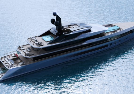 Here's A Superyacht With 9.5m-long Flying Pool